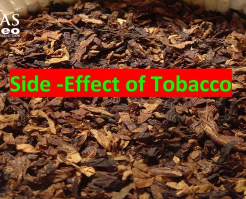 Homeopathic treatment for side-effects of tobbaco